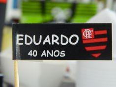 Bandeirinhas para salgadinhos Flamengo