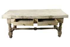 19th-C. Butcher Block Table