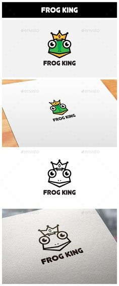 Frog King Logo — Vector EPS #kingdom #gaming • Available here → https://graphicriver.net/item/frog-king-logo/11103705?ref=pxcr