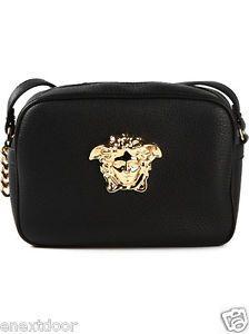 VERSACE Palazzo Medusa Black Crossbody Bag $975 NWT