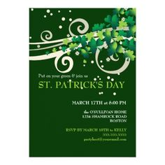 Patricks Day Irish Shamrock Party Invitation - tap, personalize, buy right now! Olive Garden Delivery, Dinner Party Invitations, Gala Invitation, Invitation Ideas, Invite, Wedding Invitations, St Patrick Day Treats, St Patrick's Day Outfit, Irish Blessing
