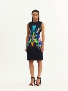 Cocktail / Sleeveless Dress / Rainbow Fossil / Black josh goot