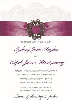 Something Borrowed Flat Oversized Invitation at Wishing Tree Designs!
