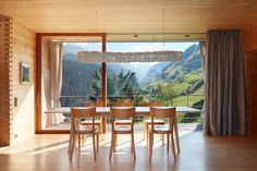 In the remote hamlet of Leis, just 1500 m above sea level, in the community of Vals Annalisa and Peter Zumthor built three timber cabins: the Oberhus, the. Peter Zumthor, Floor To Ceiling Windows, House Windows, Leis, Southwest Bedroom, Timber Cabin, Mountain Homes, Sustainable Architecture, Ancient Architecture