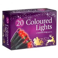 20 mukti coloured Christmas lights with green coloured wire, great for lighting up your christmas tree! metres long and mains powered. Christmas Cds, Christmas Fairy Lights, Christmas Window Decorations, Christmas Colors, Christmas Shopping, Merry Christmas, Light Colors, Board, Crowd