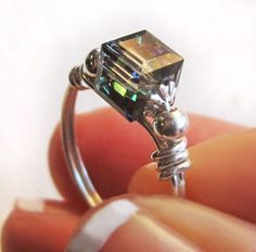 Wire wrap rings by iris-flower
