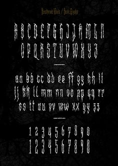 XXII Blackened Wood - Font by Doubletwo Studios , via Behance Tattoo Lettering Styles, Graffiti Lettering Fonts, Chicano Lettering, Hand Lettering Fonts, Types Of Lettering, Typography Fonts, Tattoo Fonts, Calligraphy Fonts Alphabet, Alphabet Symbols
