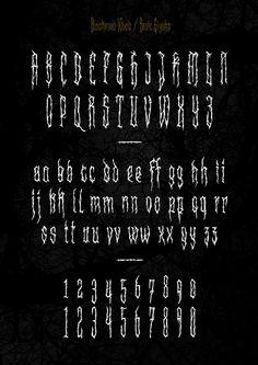 XXII Blackened Wood - Font by Doubletwo Studios , via Behance