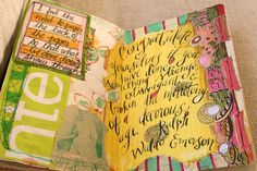 this inspires me to venture out with color in my journal