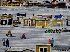"""""""Ice Fishing Village"""" by Les Amies du Quilt - detail"""