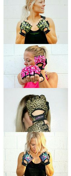 Cute workout gloves from our accessorie line Sparkle & Sweat!   Check out the cutest workout accessories, EVER!   www.sparkleandsweatshop.com