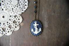 Crow's Nest Cameo Necklace. Perfect summer jewelry!