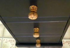 #DIY Cork Drawer Handles