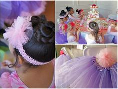 I can't imagine much more fun for my 4-year-old self than having a tea party with my besties, getting dressed up as a ballerina, and getting to dance with a *REAL* ballerina! This party for sweet Chloe was filled with pink and purple tutus (birthday girl's favorite colors), cupcakes and lots of fun! AmyCroushorn from Amy's Party Ideassent over this beautiful creation and we love