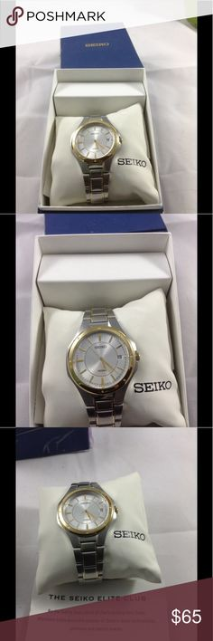 Seiko watch Seiko watch in like new condition, new battery. Firm price. Excellent Father's Day Gift Seiko Accessories Jewelry