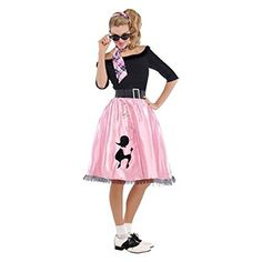 Womens Sock Hop Sweetie Costume Size X Large (14-16) Amscan