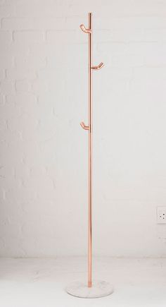 Contemporary copper coat stand More