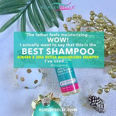 """""""The lather feels SO Moisturizing!"""" After one use only, #KurleeBelle Almond & Shea Butter Moisturizing Shampoo will WOW you! Just ask @vivigrant! #BestShampooEver 🙌🏾  Now available at www.kurleebelle.com, Amazon.com, Your local #Walmart in Florida, Georgia and Texas or """"Find A Store Near You"""" (located in the top right hand corner of our website.) Also in stores NOW throughout the USA, The Bahamas, Nigeria, Australia, Cayman Islands, Trinidad and Tobago, Barbados, Jamaica, Bermuda, Turks…"""