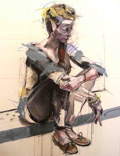 "Lou ROS; Acrylic, 2011, Painting ""FM"""