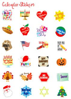 Event Stickers Printable for your New Year's Calendar. via @Alpha Mom (TM)