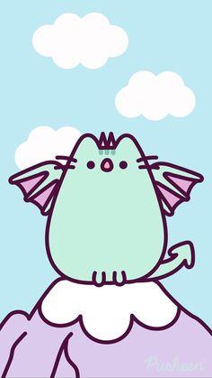 Pusheen the cat iphone wallpaper Cat Wallpaper, Kawaii Wallpaper, Cute Wallpaper Backgrounds, Wallpaper Iphone Cute, Kawaii Doodles, Cute Kawaii Drawings, Kawaii Cute, Nyan Cat, Cat Art
