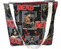 The Walking Dead comic book tote bag zombie tote bag purse zombie apocalypse bag walking dead return of walking dead zombies cartoon comic
