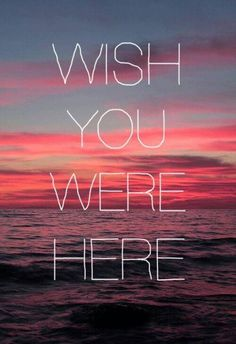 Pink Floyd~ Wish you were here