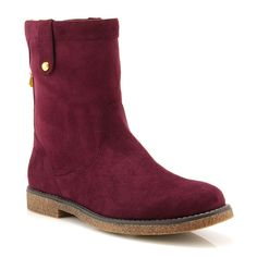 Burgundy low boot Mod:737000011 Low Boots, Chelsea Boots, Uggs, Burgundy, Wedges, Ankle, Red, Shoes, Fashion