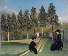 https://flic.kr/p/9bVBQz | Henri Rousseau: The Painter and his wife (1899) | Paris Centre Pompidou Musée National d'Art Moderne