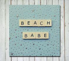 Beach quote print - beach babe -