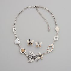Cute. Butterfly Necklace Set