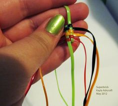 gimp bracelet patterns - Google Search Gimp Bracelets, Friendship Bracelets, Diy And Crafts, Crafts For Kids, Arts And Crafts, Plastic Lace, Craft Club, Loom Bands, Child Life