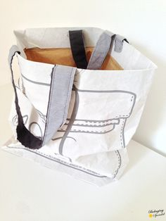 shopper made from cemet sacks #packaging