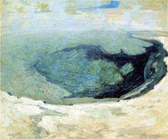 Emerald Pool; 1895 by John Henry Twachtman (Wadsworth Atheneum, Hartford, Connecticut) - Impressionism