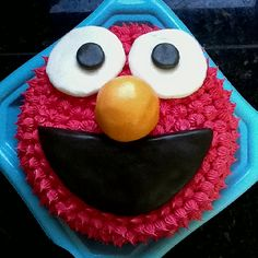 I think I can do this. 2nd Birthday, Birthday Ideas, Birthday Parties, Elmo Cake, Cupcake Cakes, Cupcakes, Elmo Party, Get The Party Started, First Birthdays