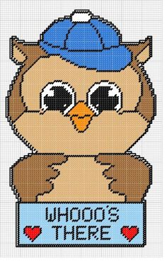 WHOOOS THERE OWL WALL HANGING
