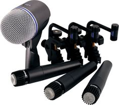 Shure DMK5752 Drum Microphone Package - Cut through the band with the Shure DMK5752 drum microphone package that includes 3 SM57's, 1 Beta 52, 3 drum mounts and a sturdy carrying case.