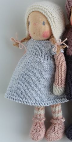 Waldorf doll Waldorf knitted doll 8  Marit