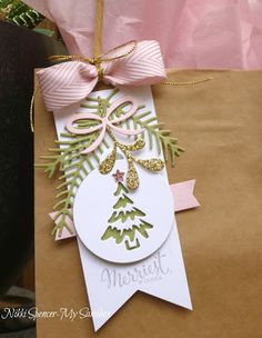 My Sandbox: Just Add Ink Tags! The Effective Pictures We Offer You About Gift Wrapping flowers A quality picture … Christmas Gift Bags, Handmade Christmas Gifts, Christmas Gift Wrapping, Christmas Paper, Xmas Gifts, Handmade Gift Tags, Paper Gifts, Card Tags, Christmas Cards