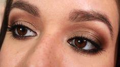 Ojos ahumados bronce - tutorial de maquillaje | Ruboradero / Bronze smokey eyes - makeup tutorial