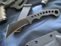 Miller Brother Blades M-6 Steel - 5160 Thickness - 5/16 .323 Length - 8 an 7/8in overall Blade length - 4in Blade width - 1 1/8in at the widest