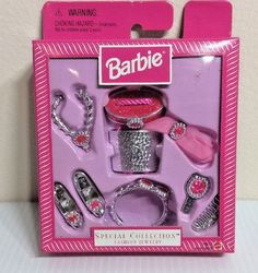 Mattel 5245842 Barbie Special Collection Fancy Jewelry 1997 for sale online Barbie Wedding Dress, Wedding Doll, Barbie Doll Accessories, Barbie Shoes, Barbie Doll Set, Barbie I, Vintage Barbie Clothes, Doll Clothes Barbie, Dolls From The 80s