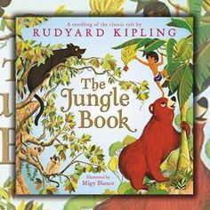 """best for children..very colorful...lots of animals-Holly #BookReview """"The Jungle Book"""" Laura Driscoll @HarperCollins http://www.sandiegobookreview.com/the-jungle-book/"""