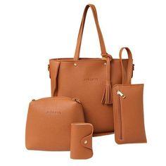 Xiniu 4 PCS women bag set leather 2017 Shoulder Bags women messenger bag  small clutches Handbag 54a37e196753