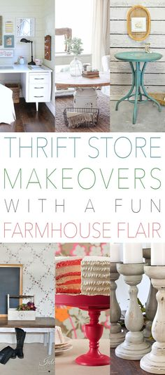 It's that time again! Time for another Fun Collection of Thrift Store Makeover. This weeks with have Thrift Store Makeovers with a Fun Farmhouse Flair. I am pretty excited about all of these…some are classic Farmhouse and some are very Contemporary Farmhouse Style but ALL of them are amazing and will give you so much …