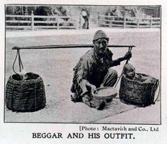 A beggar with his child