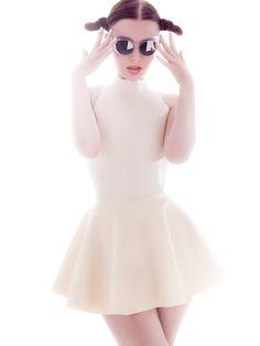 Latex Skater Skirt dress