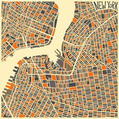 patternprints journal: GEOMETRIC PATTERNS IN ORIGINAL GRAPHICS CITY MAPS BY JAZZBERRYBLUE