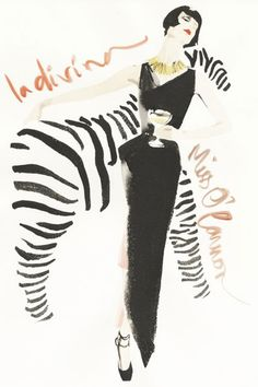 Erin O'Connor at Mulberry by David Downton