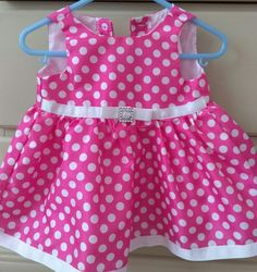 Polka dot pink and white  baby dress | Clothing, Shoes & Accessories, Baby & Toddler Clothing, Girls' Clothing (Newborn-5T) | eBay!